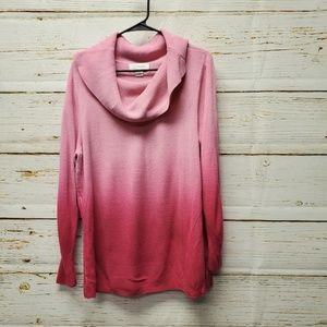 C J Banks Ombre Cowl Neck Sweater